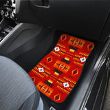 Seven Tribes Red Front Car Mats (Set Of 2)