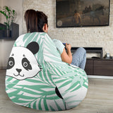 Panda pattern tropical leaves background Bean Bag Chair