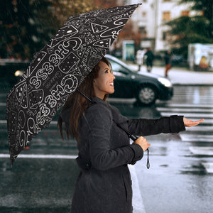 Handwritten Cheese Pattern Umbrella