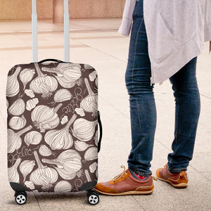 Garlic bulb dark background Luggage Covers
