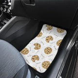 Sketch style cookie pattern Front Car Mats