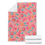 Colorful candy pattern Premium Blanket