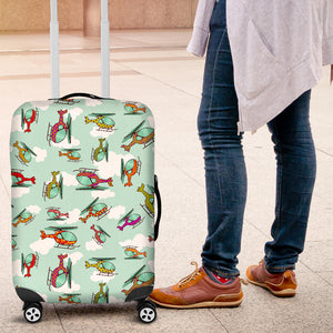 Helicopter Design Pattern Luggage Covers