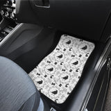 Crows Floral Wreath Rabbit Pattern Front Car Mats