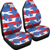 American football ball star stripes pattern  Universal Fit Car Seat Covers