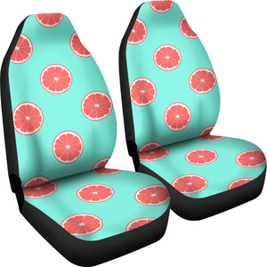 Grapefruit Green Background Universal Fit Car Seat Covers