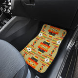 Seven Tribes Tan Front Car Mats (Set Of 2)