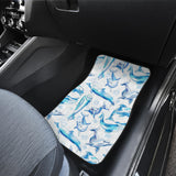 Watercolor dolphin pattern Front Car Mats
