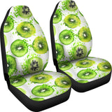 Watercolor kiwi pattern Universal Fit Car Seat Covers