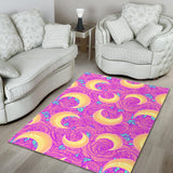 Moon Pink Rose Background Area Rug
