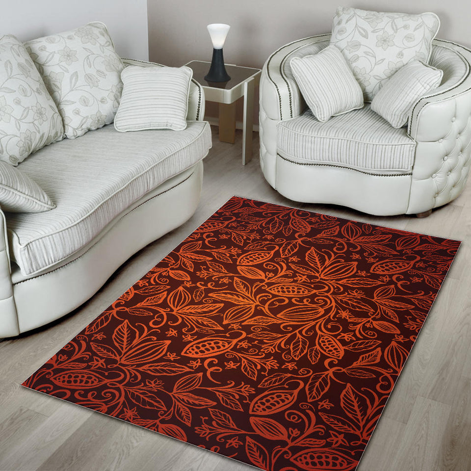 Cocoa Beans Tribal Polynesian Pattern Area Rug