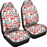 Red mushroom dot pattern Universal Fit Car Seat Covers