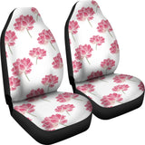 Pink Lotus Waterlily Pattern Universal Fit Car Seat Covers