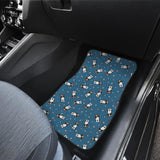 Cute Boston Terrier Dog Spattern  Front Car Mats