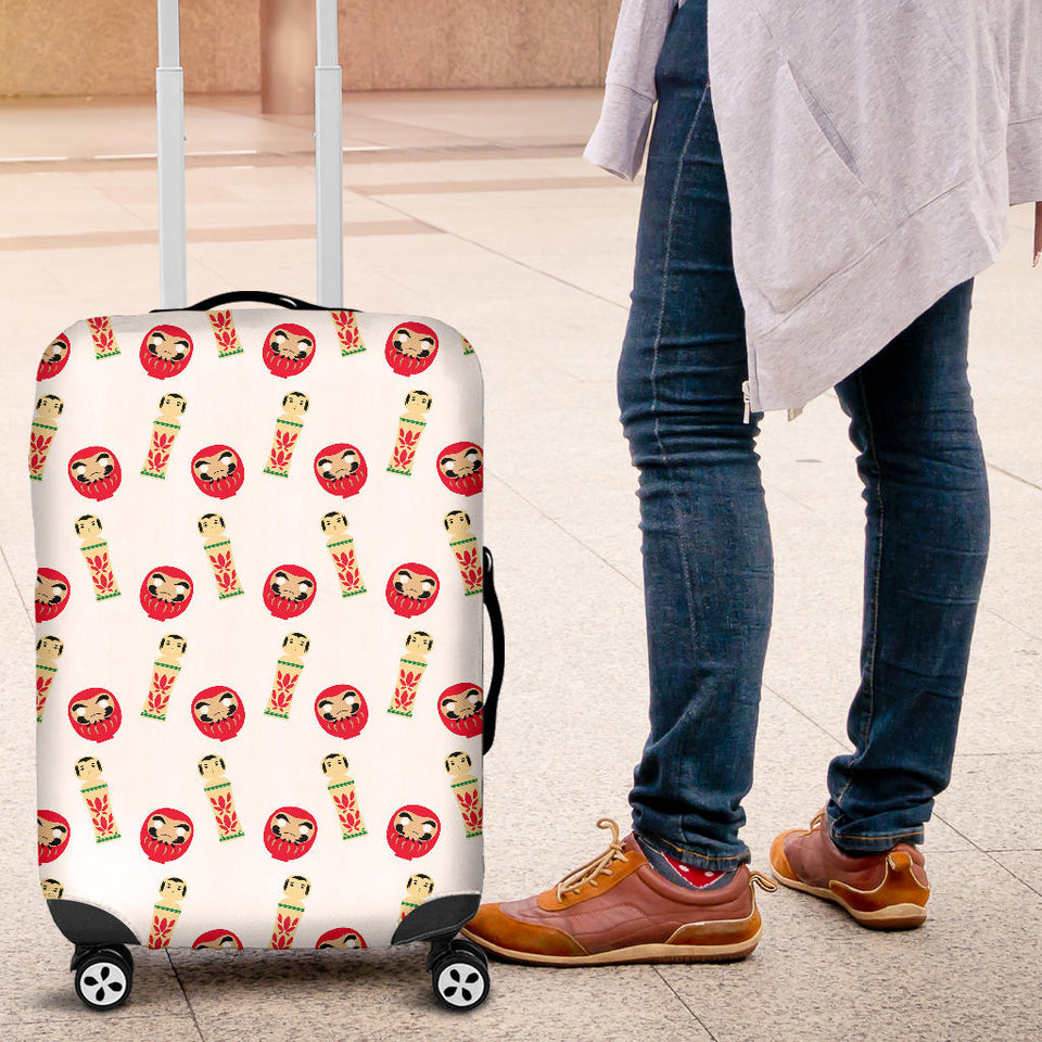 Daruma japanese wooden doll Luggage Covers