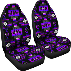Seven Tribes Purple Thunder Car Seat Covers