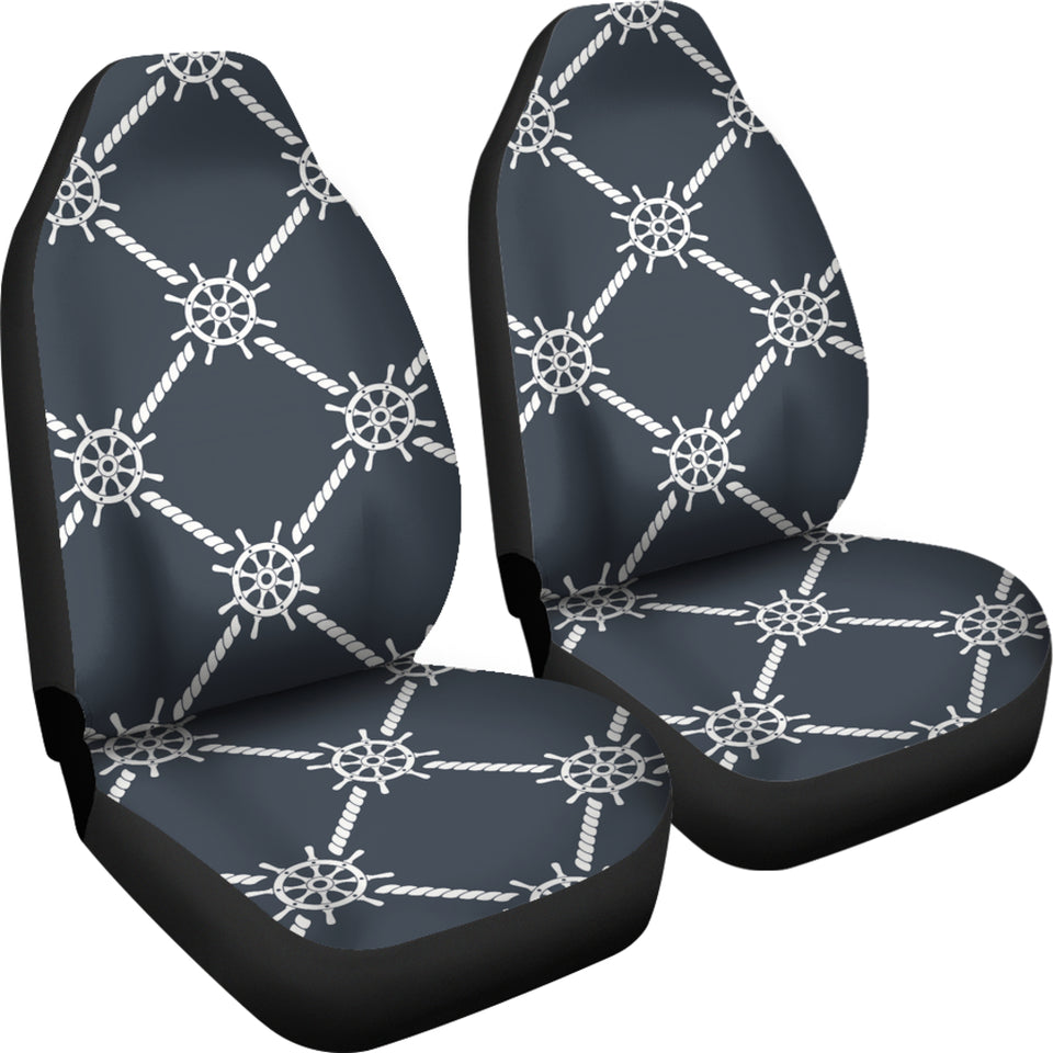 Nautical Steering Wheel Rope Pattern Universal Fit Car Seat Covers