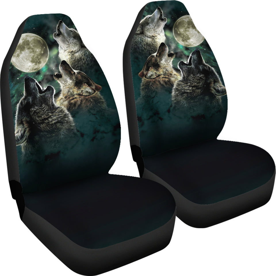 Car Seat Covers - Wolf Car Seat Cover Brothers / Universal Fit