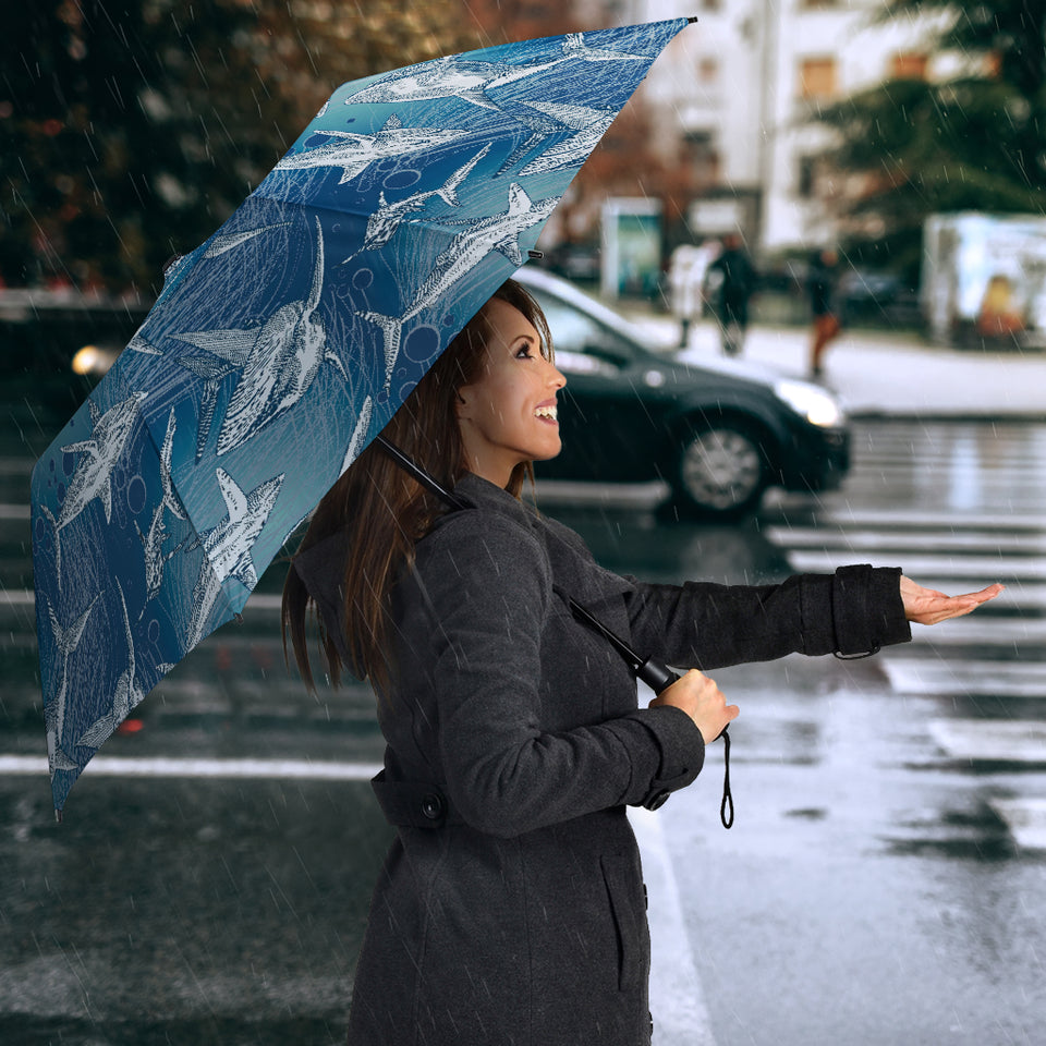 Shark Hand Drawn Umbrella