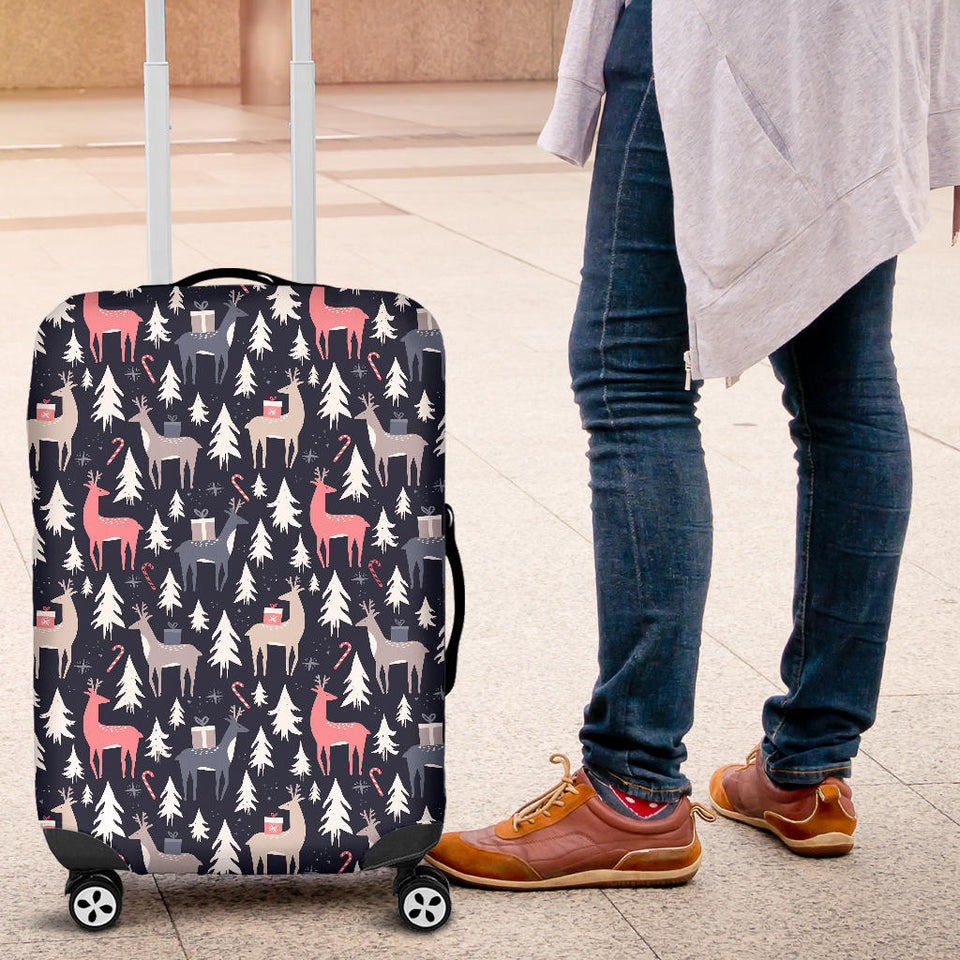 Deers Winter Christmas pattern Luggage Covers