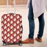 Fire flame symbol design pattern Luggage Covers