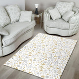 Christmas Tree Christmas Element Silver Gold Pattern Area Rug