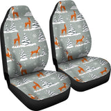 Beautiful Deers Winter Christmas Universal Fit Car Seat Covers