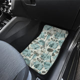 Dragonfly Butterfly Plants Insect Flower Vintage Style Pattern Front Car Mats