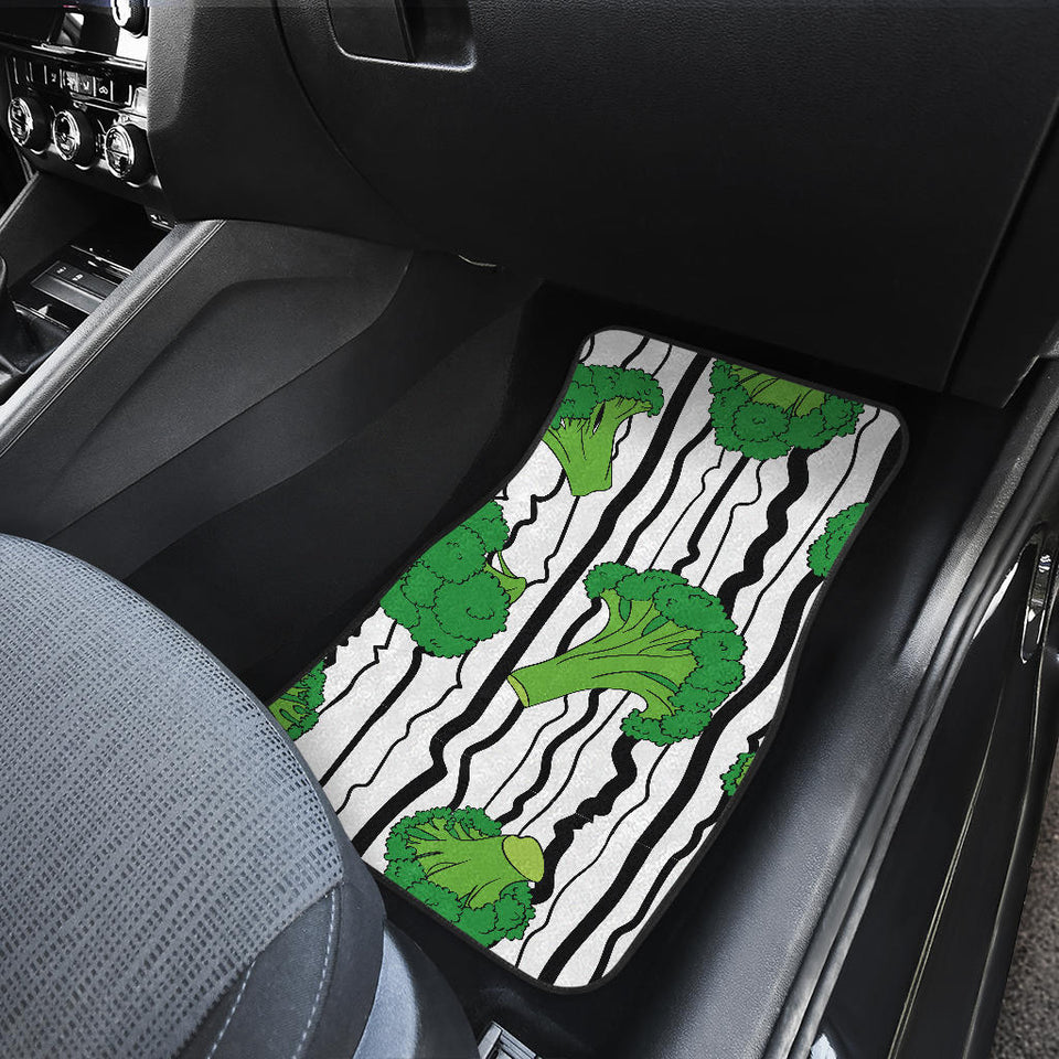 Cool Broccoli Pattern Front And Back Car Mats