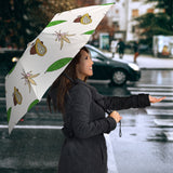 Color Hand Drawn Cocoa Pattern Umbrella