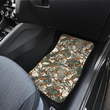 Monkey Tropical Leaves Background Front Car Mats