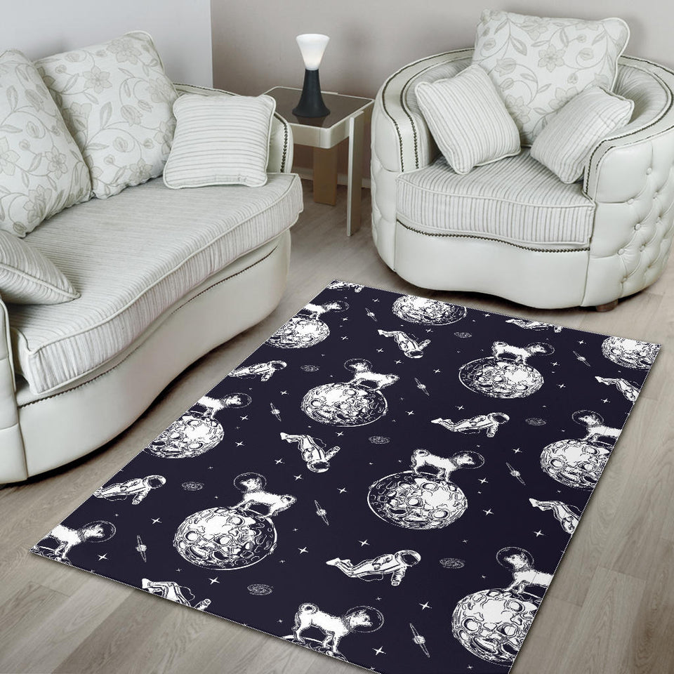 Chihuahua Space Helmet Astronaut Pattern Area Rug