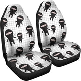 Ninja pattern plaid background Universal Fit Car Seat Covers