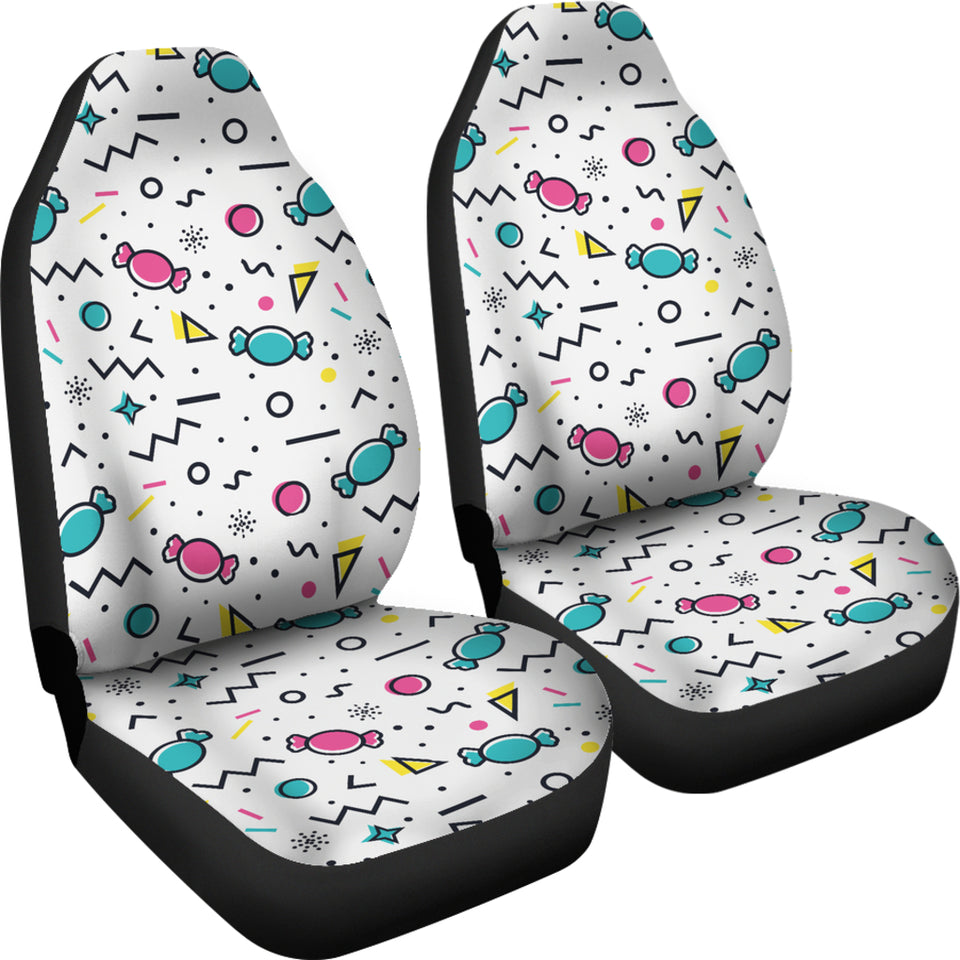 Candy Design Pattern  Universal Fit Car Seat Covers