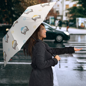 Cute Siberian Husky Pattern Umbrella