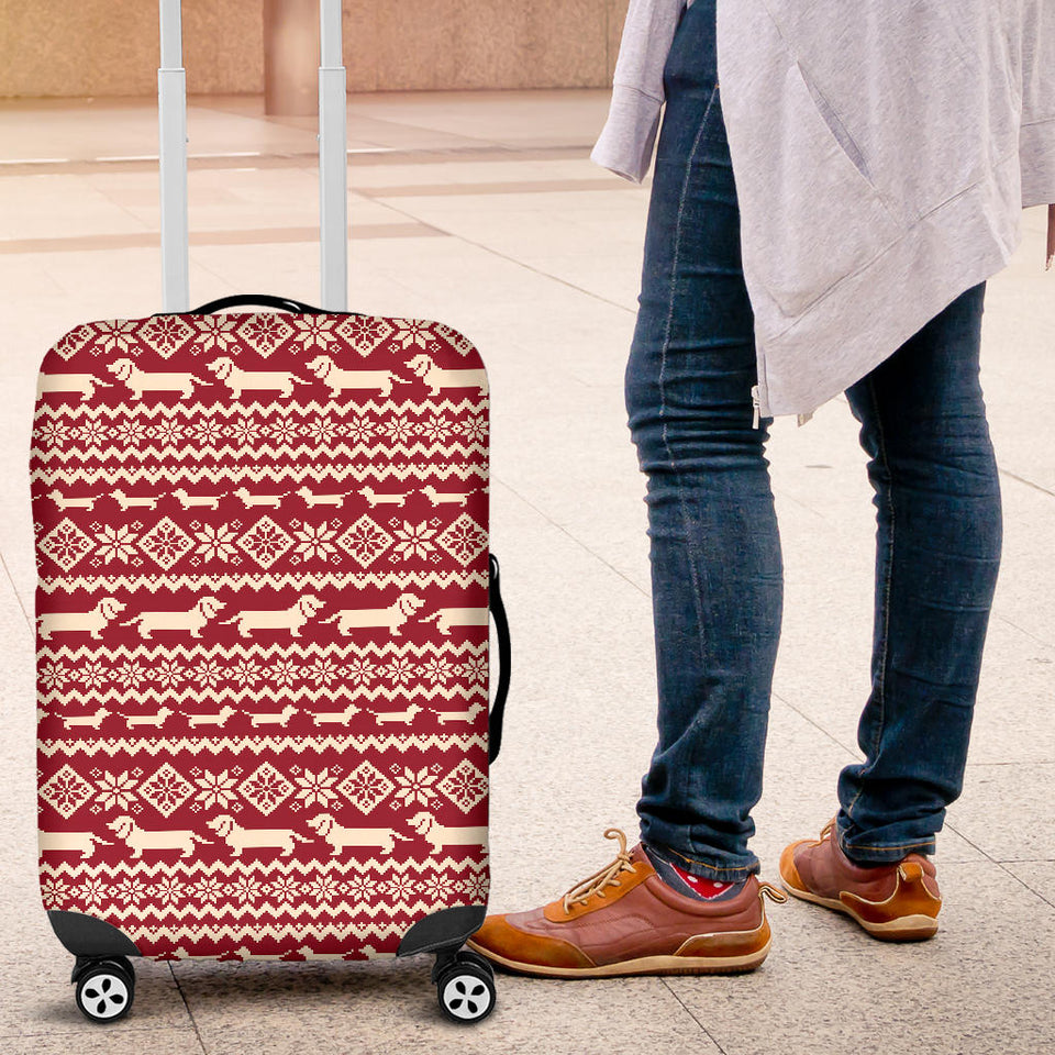 Dachshund Nordic pattern Luggage Covers