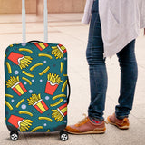 French fries red paper box pattern Luggage Covers