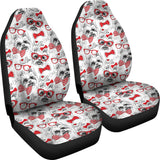 Yorkshire Terrier Pattern Print Design 04 Universal Fit Car Seat Covers