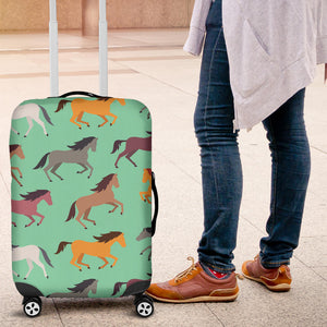 Colorful Horses Pattern Luggage Covers