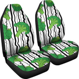Cool Broccoli Pattern  Universal Fit Car Seat Covers