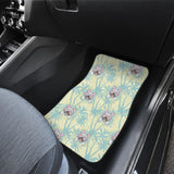 French bulldog hawaii blackground Front Car Mats