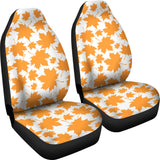 Orange Maple Leaf pattern Universal Fit Car Seat Covers
