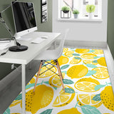 lemon design pattern Area Rug