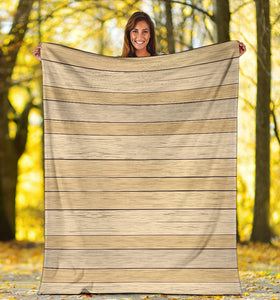 Wood Printed Pattern Print Design 01 Premium Blanket