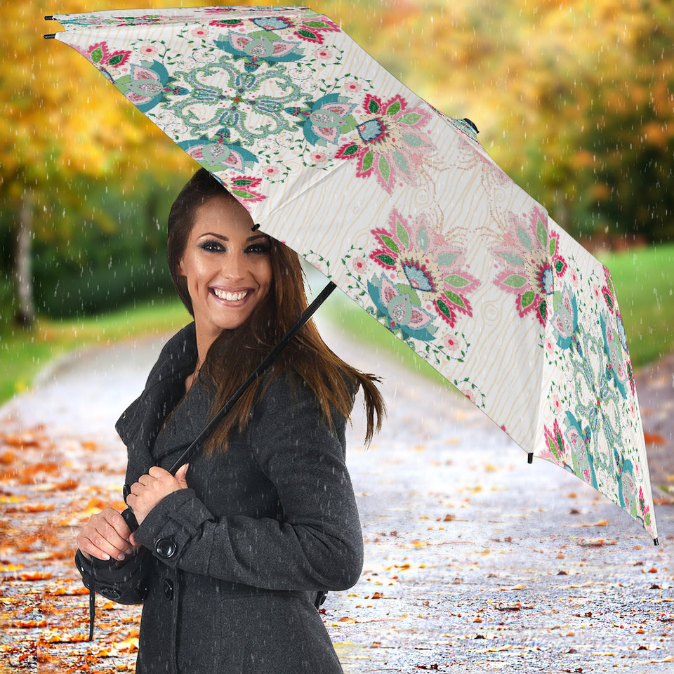 Square floral indian flower pattern Umbrella