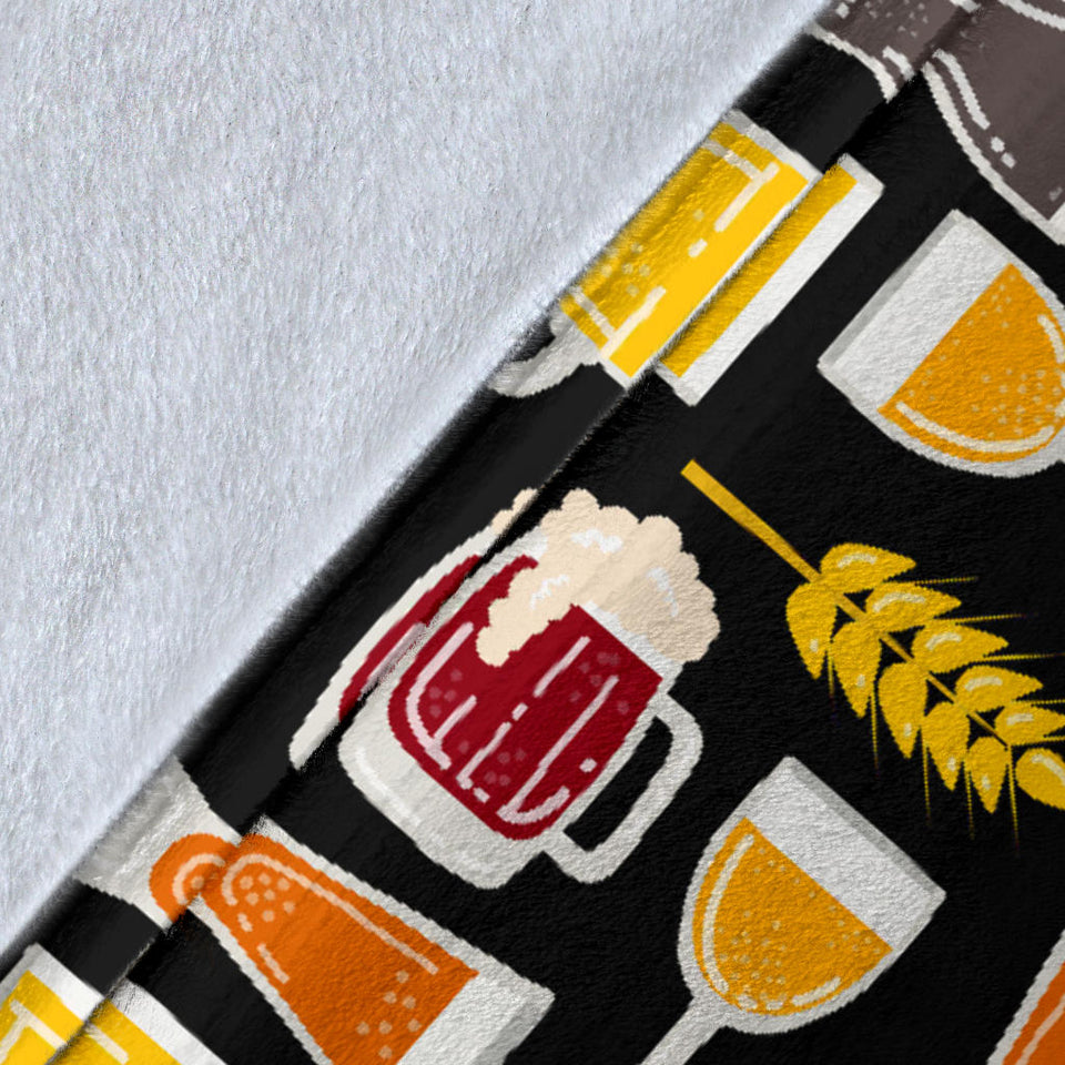 Beer Type Pattern Premium Blanket