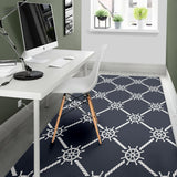 nautical steering wheel rope pattern Area Rug