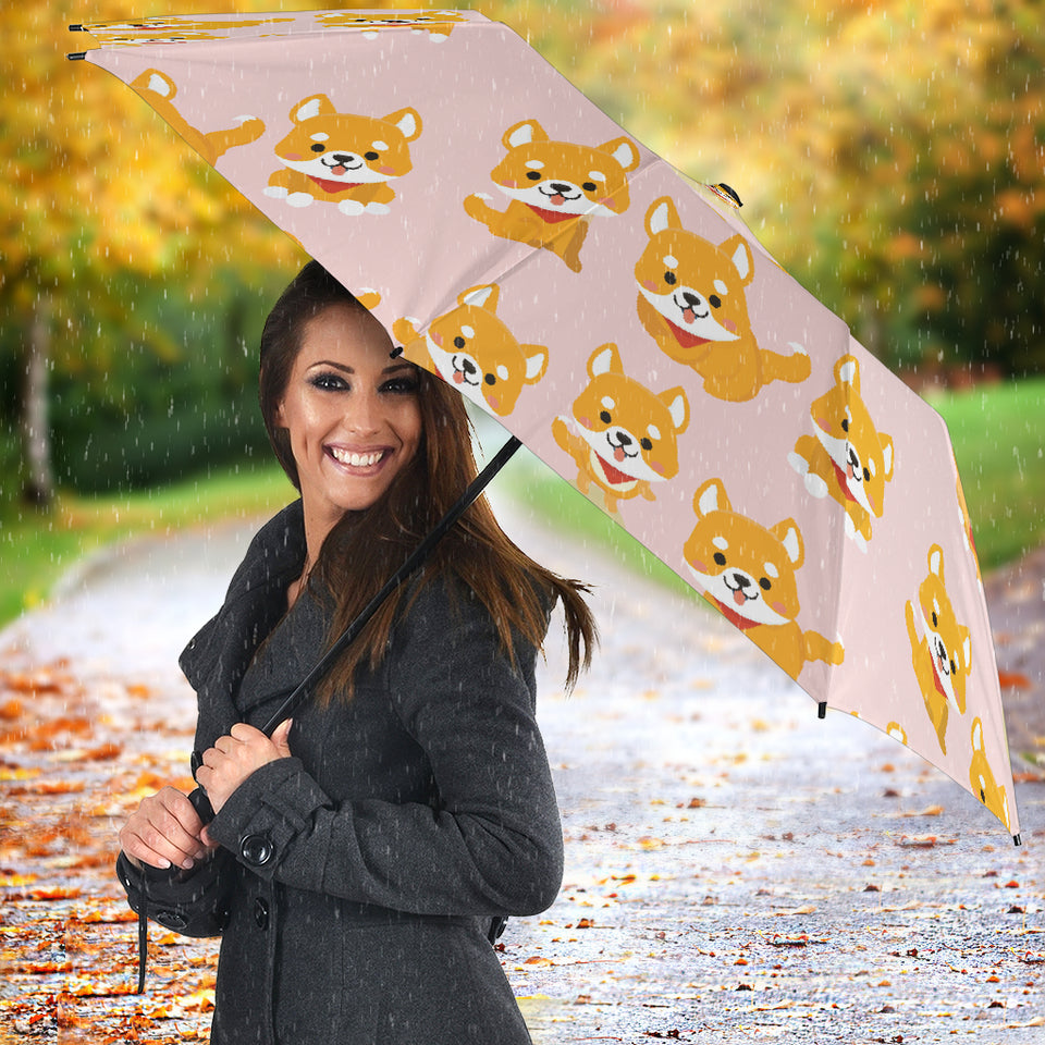 Cute Shiba Inu Dog Pattern  Umbrella