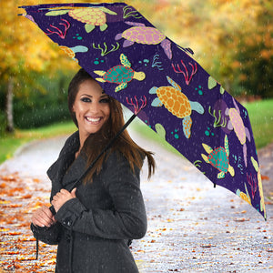 Colorful Sea Turtle Pattern Umbrella
