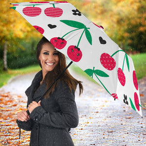 cherry pattern white background Umbrella